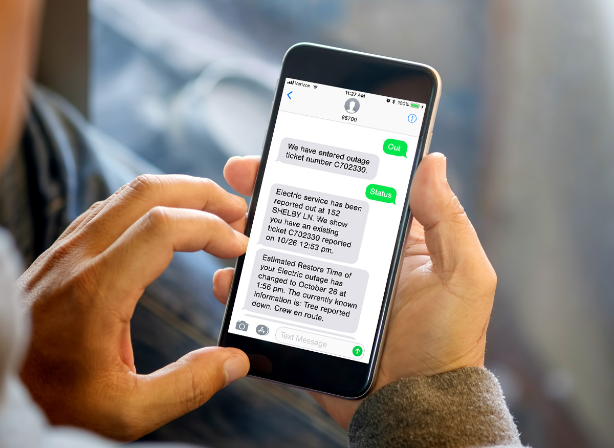 Outage Text Alerts Signup